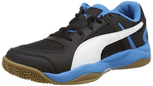 Puma Veloz Indoor II - Zapatillas deportivas para interior de material sintético Unisex adulto negro - Schwarz (black-white-cloisonné 01)