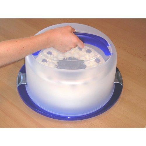 Tortenglocke, 30 cm, Tortenhaube, Kuchen Behälter, Torten Transportbox rund