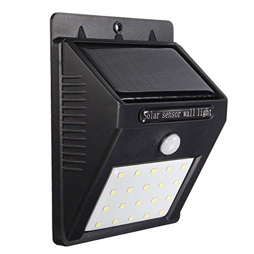 Solar Lights, GLISTENY 16 / 20 LED Motio - Garden Patio Deck Shopping Results