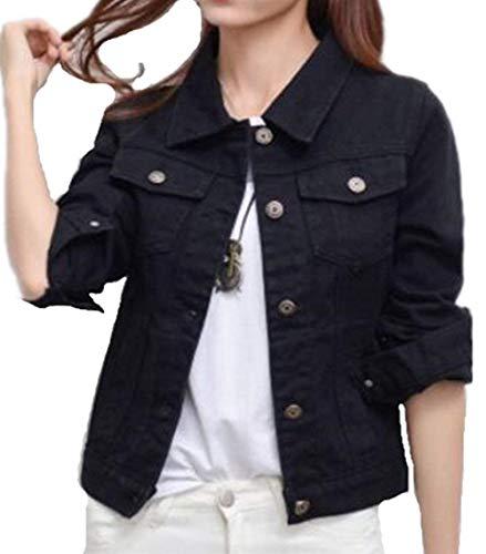 Jacket Femme Vintage Elgante Printemps Automne Jean Vestes Manches Longues Revers Costume Slim Fit Branch Casual Denim Courte Manteau Outwear Light Blue2