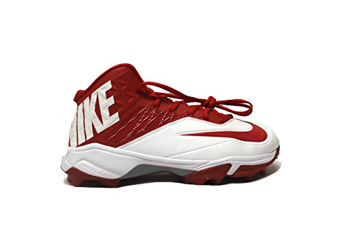 Nike Zoom Code Elite Pro Shark Wide Football Cleats (14.5, White/Red)