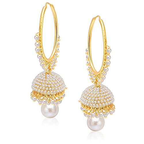 Penny Jewels Alloy Stud Pearl Jhumki Earring Set