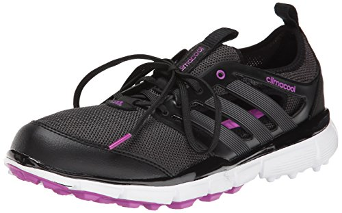 - adidas Women's W Climacool II-W, Core Black/Iron Metallic/Flash Pink, 8 M US