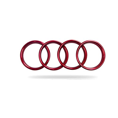 ITrims Interior Accessories Metal Air Vent Outlet Ring Cover Trim 4pcs For Audi A3 8V 2012-2018 (Red)