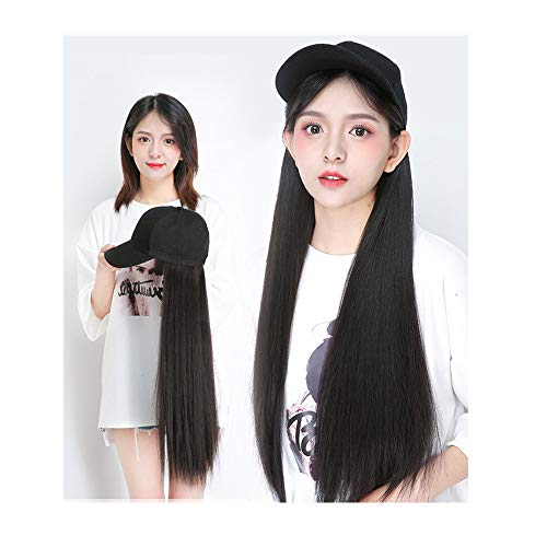DZTZ Women's Fashion Wig Long Straight Layers Black Synthetic Hair Wigs Synthetic Heat Resistant Weave Full Wigs for Women (Black)