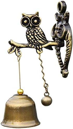 アンティークのドアベル 象の形のレトロノスタルジックスタイルの動物ドアベルメタルアイアンベル風チャイムベル アンティークドアベル 呼び鈴 (色 : Brass, Size : One size)