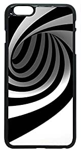 3D Abstract Black Stripes Swirl iPhone 6 Plus Case PC Black (5.5 inch) At Colored Cases Store