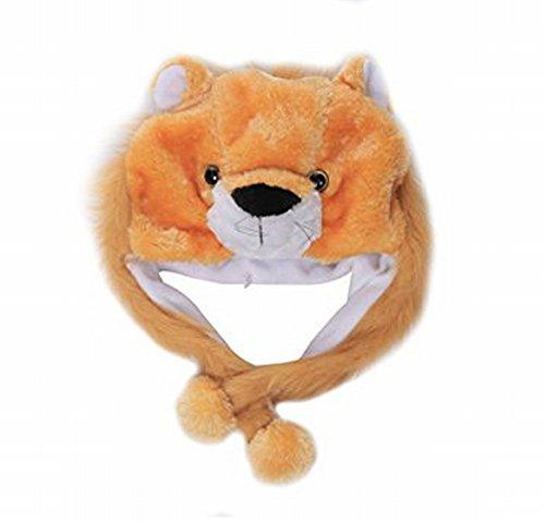 (ganesha Animal Plush Earmuff Winter Warm Fluffy Cap 2)