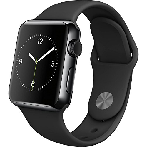 Apple - Apple Watch 42mm Space Black Stainless Steel Case - Black Sport Band by Apple