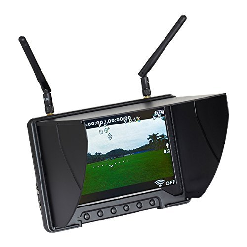 "Flysight Black Pearl RC801 5.8Ghz 7"" HD Screen Diversity Monitor with Integrated Battery, 1024x600"