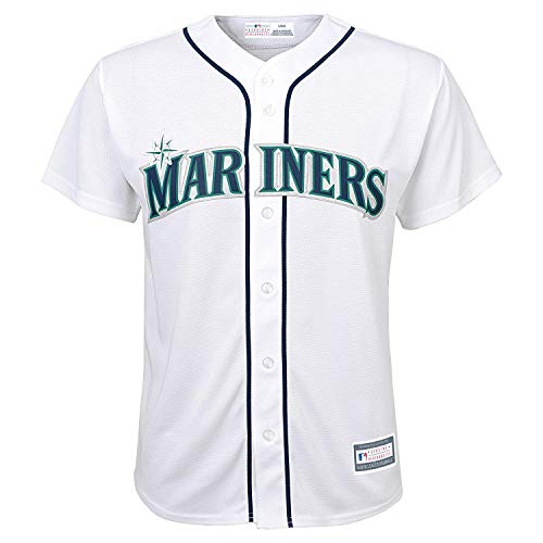 (Outerstuff MLB 8-20 Youth Blank Cool Base Home Color Team Jersey (Small 8, Seattle Mariners))