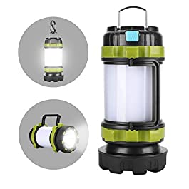 Alpswolf Camping Lantern Rechargeable Camping Flashlight 4000mAh Power Bank,4 Modes, IPX4 Waterproof, Led Lantern Camping, Hiking, Outdoor Recreations, USB Charging Cable Included