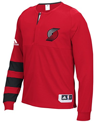 Portland Trail Blazers Adidas 2016 NBA On-Court Authentic L/S Shooting ()