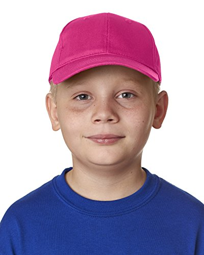 Ultraclub Unisex-child Classic Cut Cotton Twill Cap 8122 -Hot Pink One ()