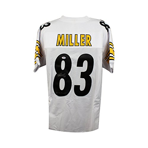 Heath Miller SB Champs Autographed Steelers Custom White Football Jersey PSA/DNA ()