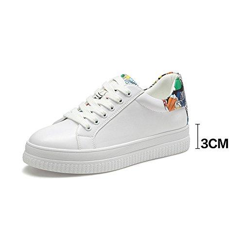 XIA Sneakers Cómodo Siéntase libre de combinar Corbata opcional The Shoelace Single Shoes Spring Woman ( Color : A , Tamaño : EU36/UK4/CN36 )