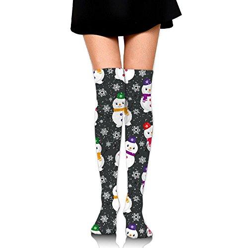 作家事業内容摘む雪だるま式 ストッキング サイハイソックス 3D デザイン 女性男性 秋と冬 フリーサイズ 美脚 かわいいデザイン 靴下 足元パイル ハイソックス メンズ レディース ブラック