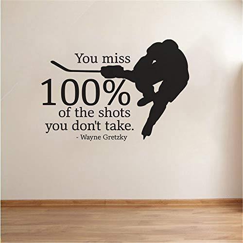 banehg Room Wall Stickers Quotes You Miss 100% of The Shots You Don't take -