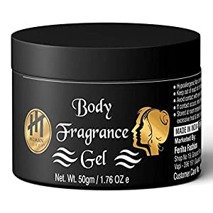 HT HUMAN TOUCH Long-Lasting Body Fragrance Gel with Exotic Perfume for Men and Women (50G)