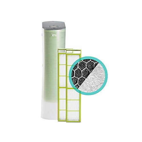 Alen Paralda Tower Air Purifier with 2 HEPA-Silver-Carbon filters removes airborne allergens like dust, pet dander, mold spores and pollen (Bundle, 1-Pack) by Alen