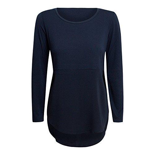 Damen Langarmshirt Donna - von European Culture - Farbe Blau