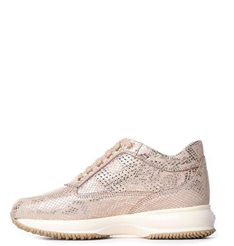 Hogan Kvinder Hxw00n00e30i6hm013 Lyserød Ruskind Sneakers GqpsIS1