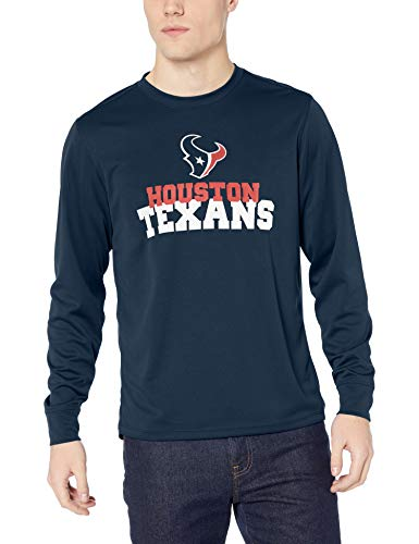 OTS NFL Houston Texans Male Poly Dot Long Sleeve Tee, Fall Navy, Large]()