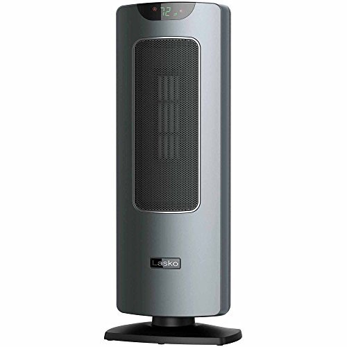 Lasko Digital Programmable Ultra Quite Oscillating Ceramic Tower Heater Fan with Remote Control and FREE Air Freshener, 0.67 Ounce Ceramic Heaters Lasko