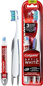 Colgate Optic Whitening Pen and White Actis Toothbrush
