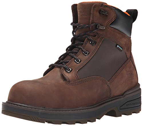 Timberland PRO Men's 6 Inch Resistor Comp Toe Waterproof Work Boot, Brown, 8.5 W US
