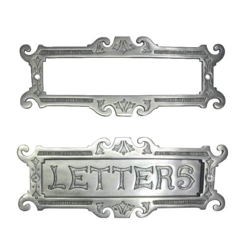 Adonai Hardware Large Letters Decorative Brass Letter Plate (Antique Brushed Nickel) by Adonai Hardware (Image #6)