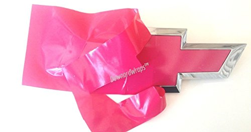 DownardWraps Hot Pink Vinyl Decal KIT (Includes Knife & Cleaner) You Cut Chevy Bowtie Emblem skin covers from (2) 11