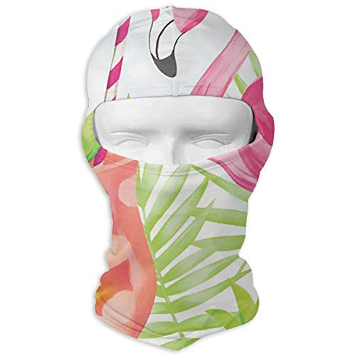 97300cab727e Tropical Flamingo Juice Leaves Winter Tactical Full Face Mask Dust Proof  Neck Cover Hood for Men and Women