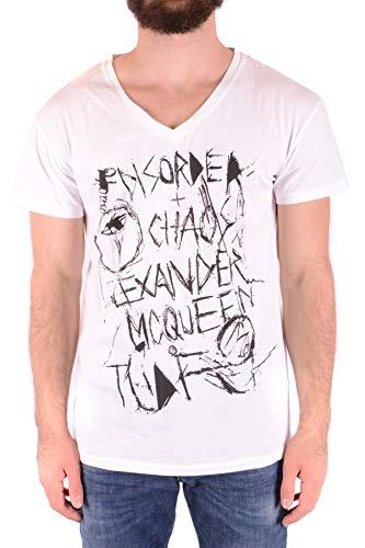 MCQ by Alexander McQueen Men's Mcbi36832 White Cotton T-Shirt