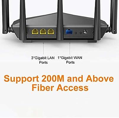 MeterMall CE Tenda AC11 Gigabit Dual-Band AC1200 Router inal/ámbrico WiFi repetidor con 5 x 6dBi Antenas de Alta Ganancia Cobertura m/ás Amplia f/ácil configuraci/ón