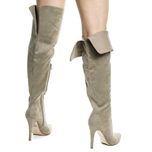 Over The Knee Pointy Toe Stiletto Heel Dress Boots #Sandraclayisu CILxkUU