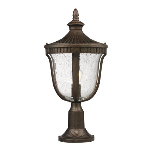 ELK 27003/1, Worthington Cast Aluminum Outdoor Post Lighting, Weathered Rust