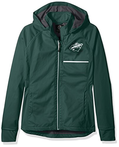nesota Wild Adult Women Cut Back Soft Shell Jacket, Large, Green ()