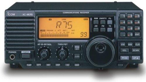 IC-R75 Shortwave receiver, 0.03-60MHz, base