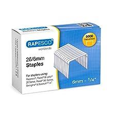 Rapesco - Caja de 5000 grapas 26 / 6 mm, uso standard en la mayoría de grapadoras