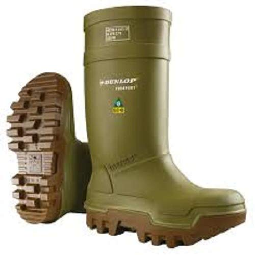Dunlop Purofort Thermo+ full safety Green/Brown Shoes E662843 Size - 9 by Dunlop (Image #3)
