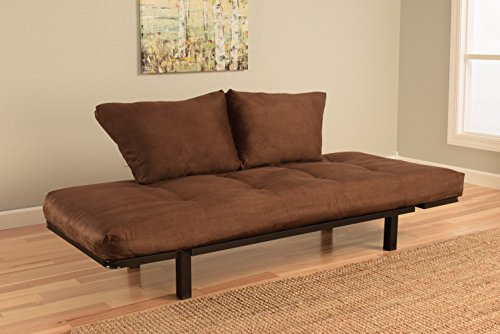 Best Futon Lounger - MATTRESS ONLY - Sit Lounge Sleep - Small Furniture for College Dorm, Bedroom Studio Apartment Guest Room Covered Patio Porch (Brown) by Kodiak