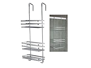Generic 3 TIER OVER THE DOOR CHROME SHOWER CADDY HANGING SHELF BASKET TIDY  ORGANISER NEW U003c1u00262777*1u003e