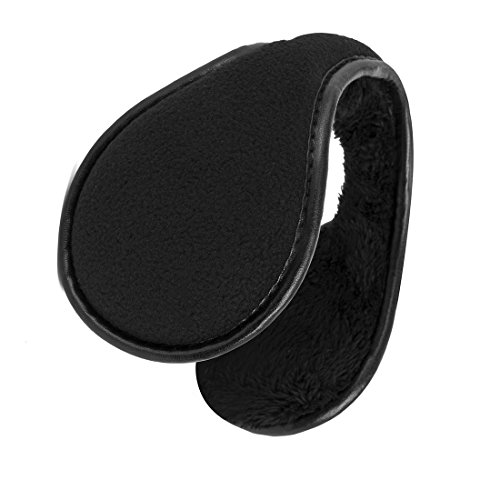 Unisex Fleece Earmuffs Foldable Ear Muffs Winter Outdoor EarMuffs Black