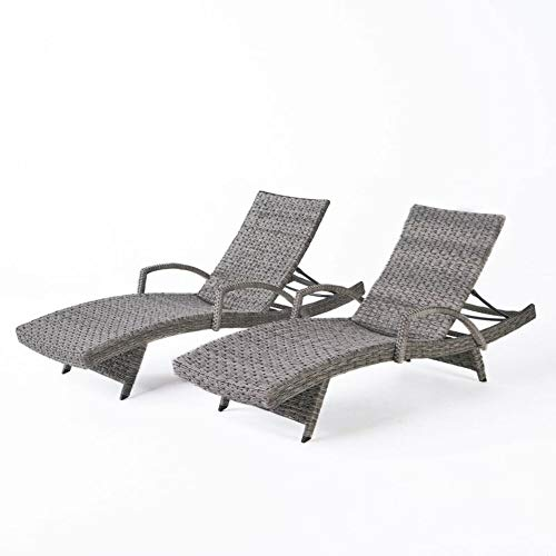 Highland Dunes Armed Chaise Lounge (Set of 2) + Free Basic Design Concepts Expert Guide