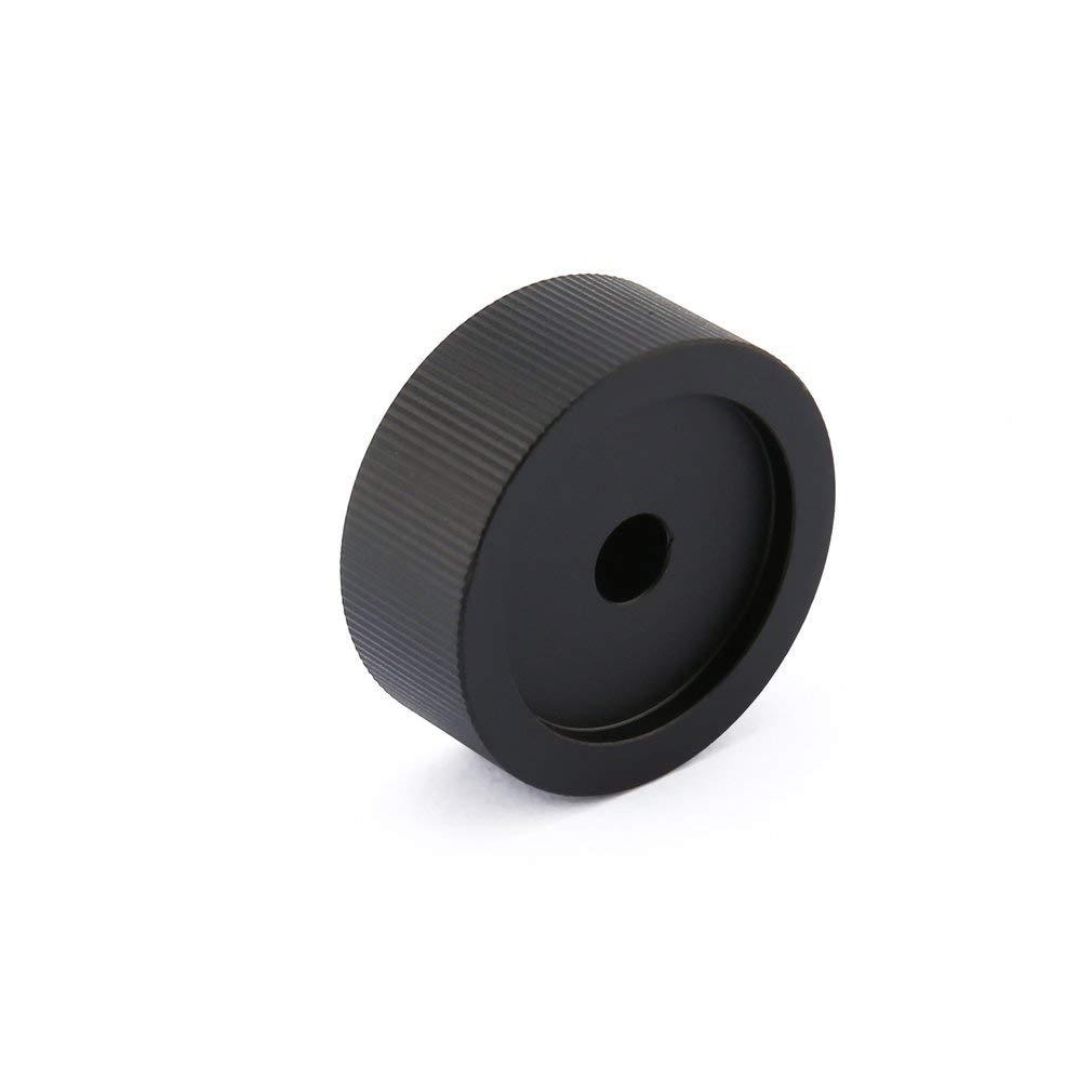 KinshopS Manopola del potenziometro del potenziometro Rotante in Alluminio Solido Nero da 1pc 32mm x 13mm