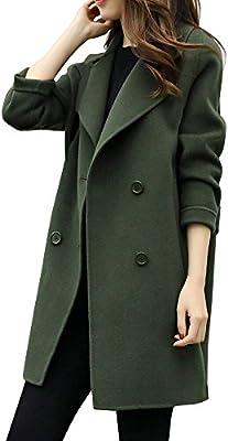 ❤Winterjacke Damen Pulli Mantel Niet Mantel Slash Reißverschluss  Wintermantel Revers Kurz Outwear Vintage Jacke Enges Normallack Trenchcoat  Elegante ... 3ae2761f58