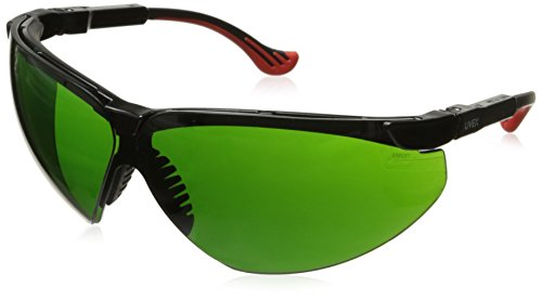 Uvex Safety Frame Xc Glasses - Uvex S3306 Genesis XC Safety Eyewear, Black Frame, Shade 3.0 Infra-Dura Ultra-Dura Hardcoat Lens