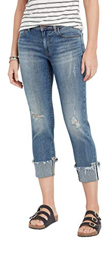 maurices DenimFlexTM Destructed fray Hem Boyfriend Crop Jean ()