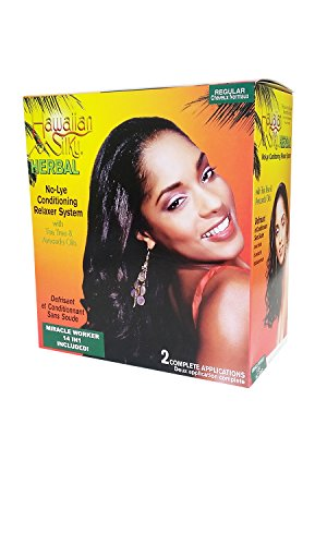 Hawaiian Silky Herbal No Lye Regular Relaxer Kit (2 Pack)
